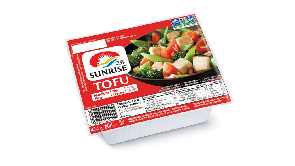 package of tofu medium-firm