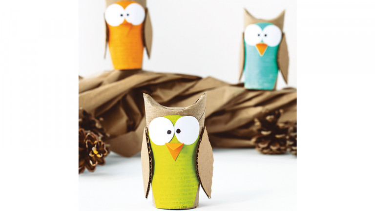 owl recycled craft