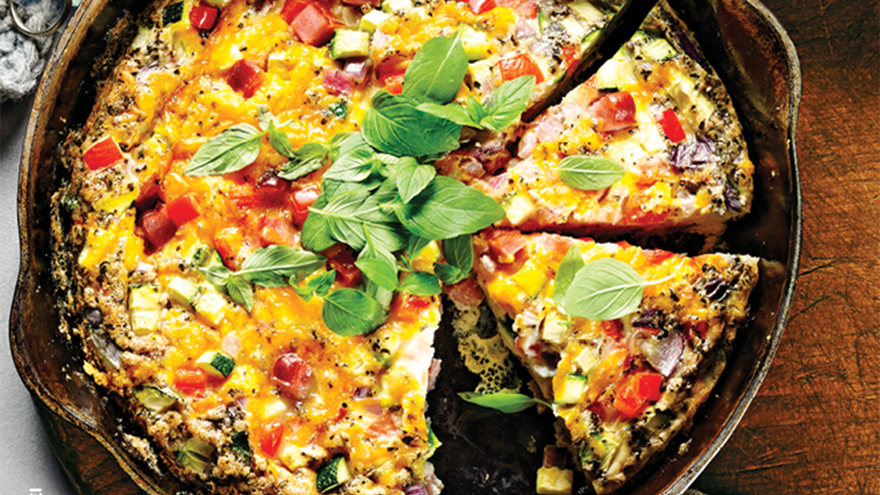 Baked Ham and Cheese Frittata