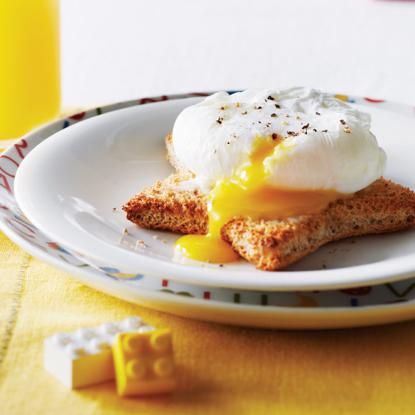 Poached egg on fancy toast