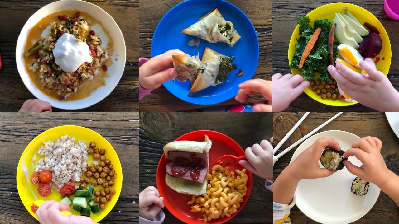 kids plates of food