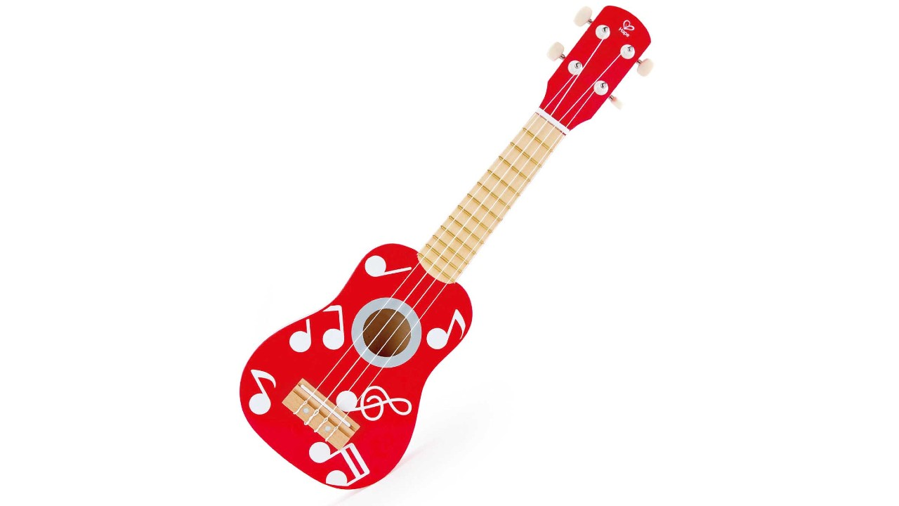 red kids ukulele