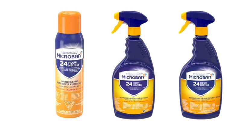 Collection of three Microban 24 products