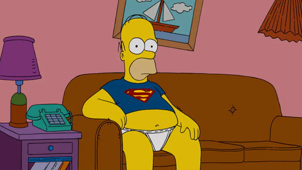 Homer Simpson sitting on couch