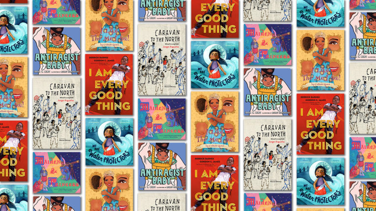 Collage of book covers that will help you decolonize your bookshelf