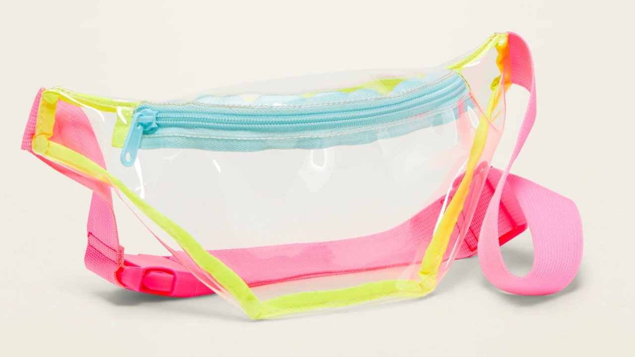see through plastic waist pack for kids