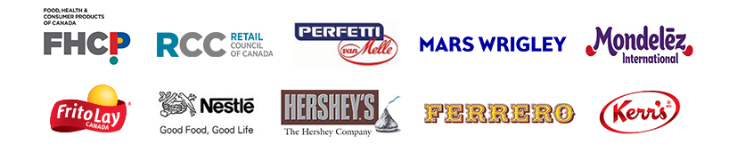 Food Health Consumer Products of Canada and their industry partner logos