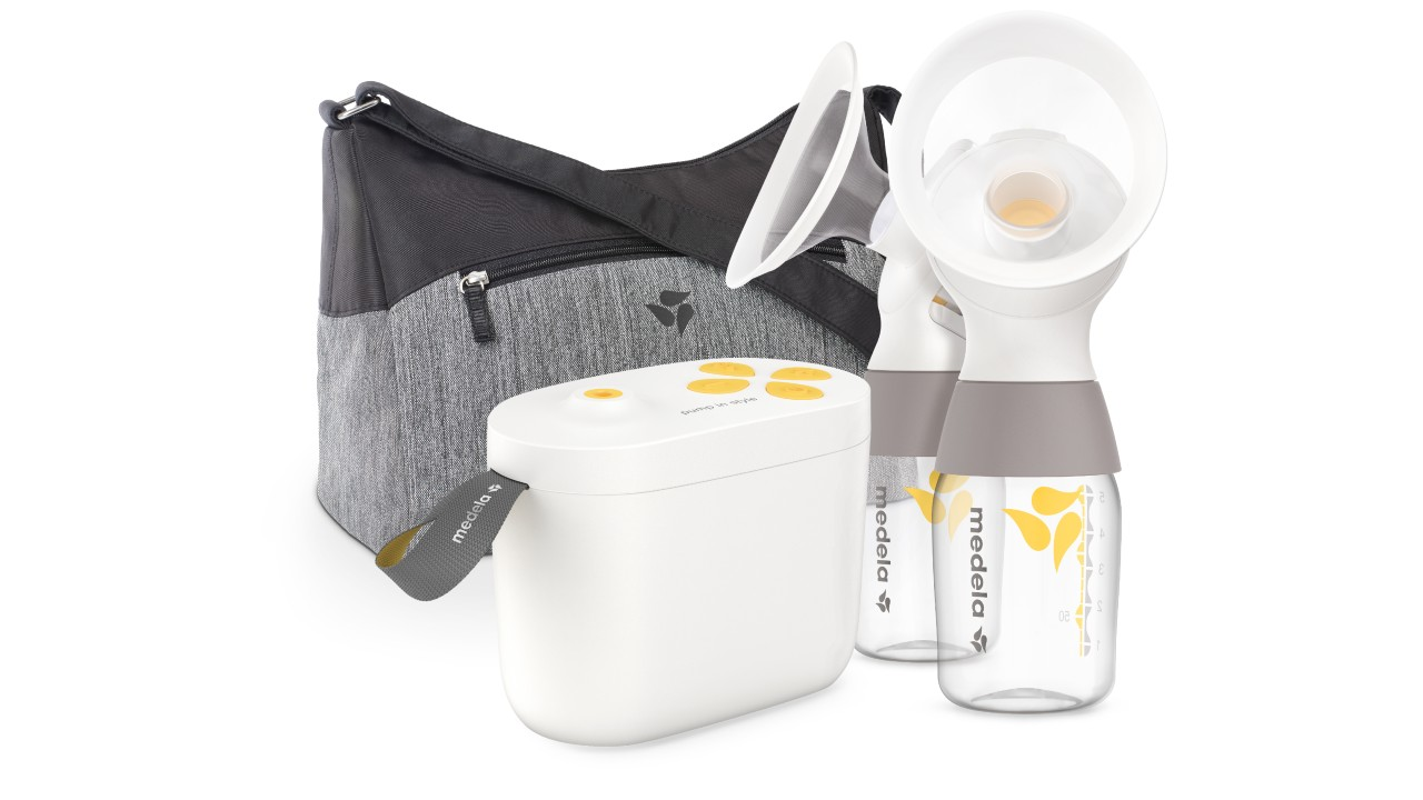 new pump in style breast pump from Medela with carry bag