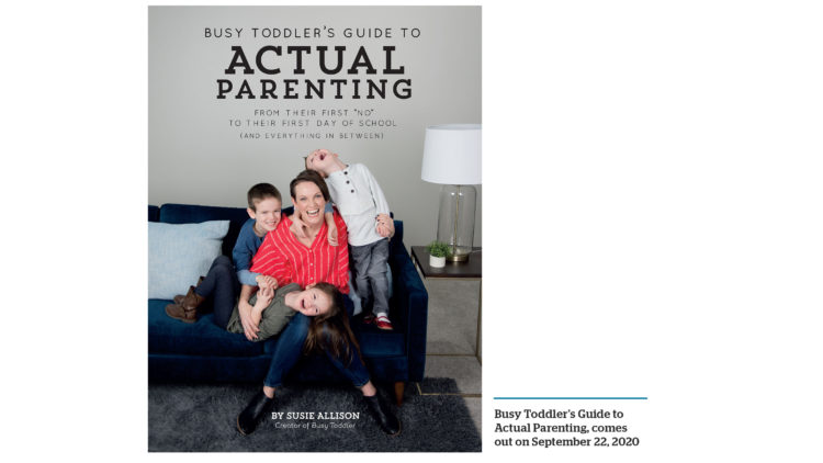 Book cover for Busy Toddler's Guide to Actual Parenting