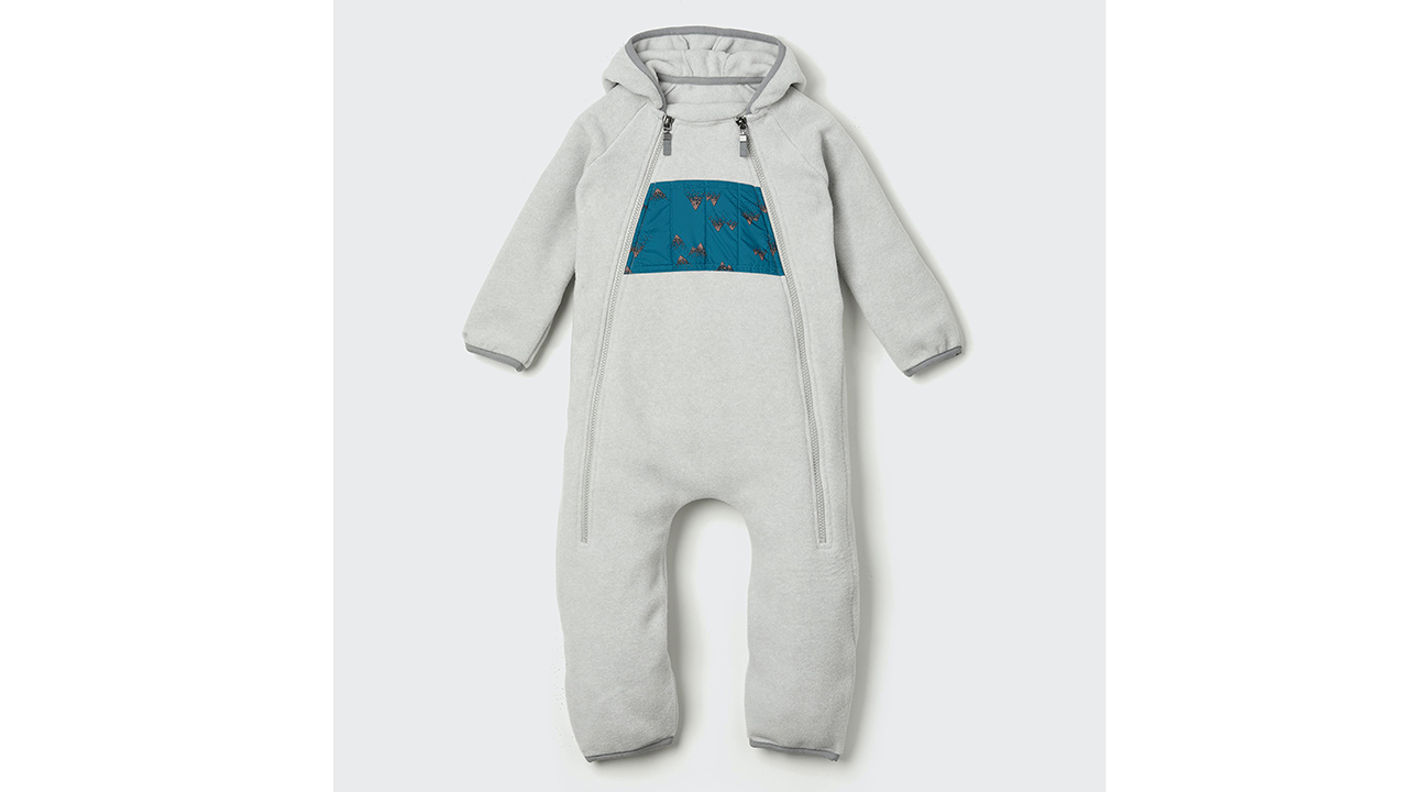photo of an infant bunting suit