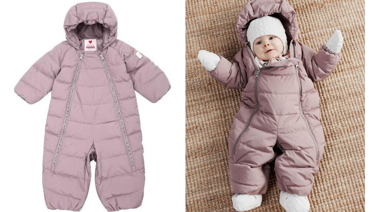 one-piece snowsuit for baby