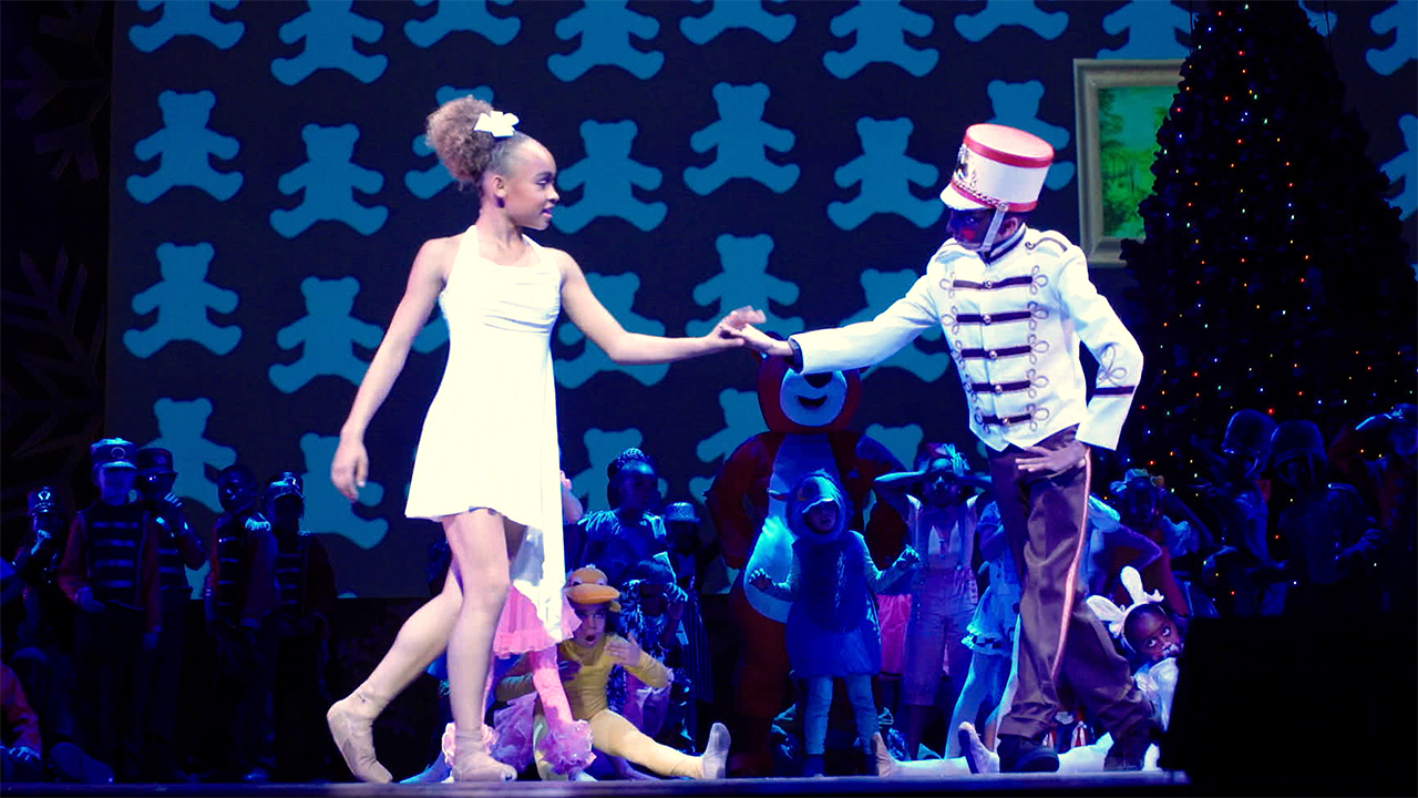 image of two kids dancing in the nutcracker