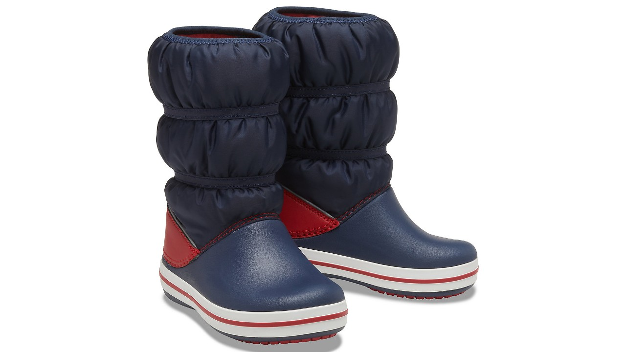 kids winter boots with puffer legs