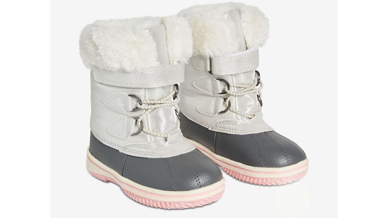 silver winter boots for toddlers