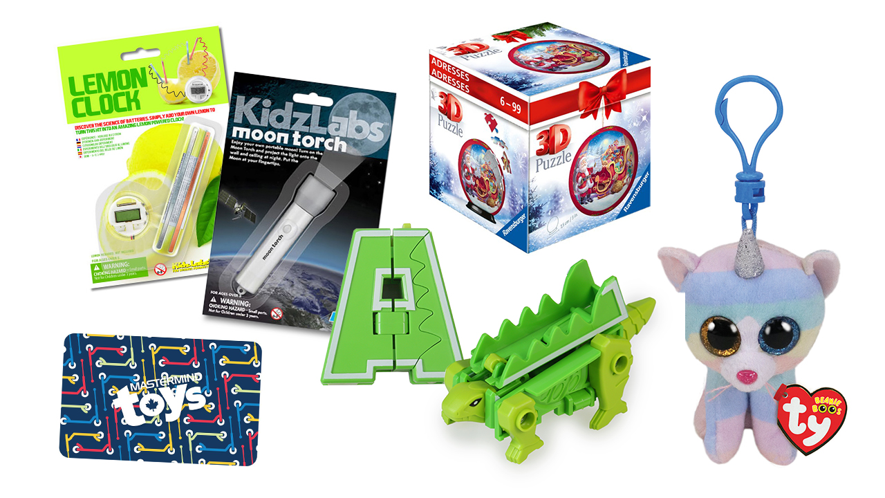 A selection of Mastermind Toys stocking stuffers