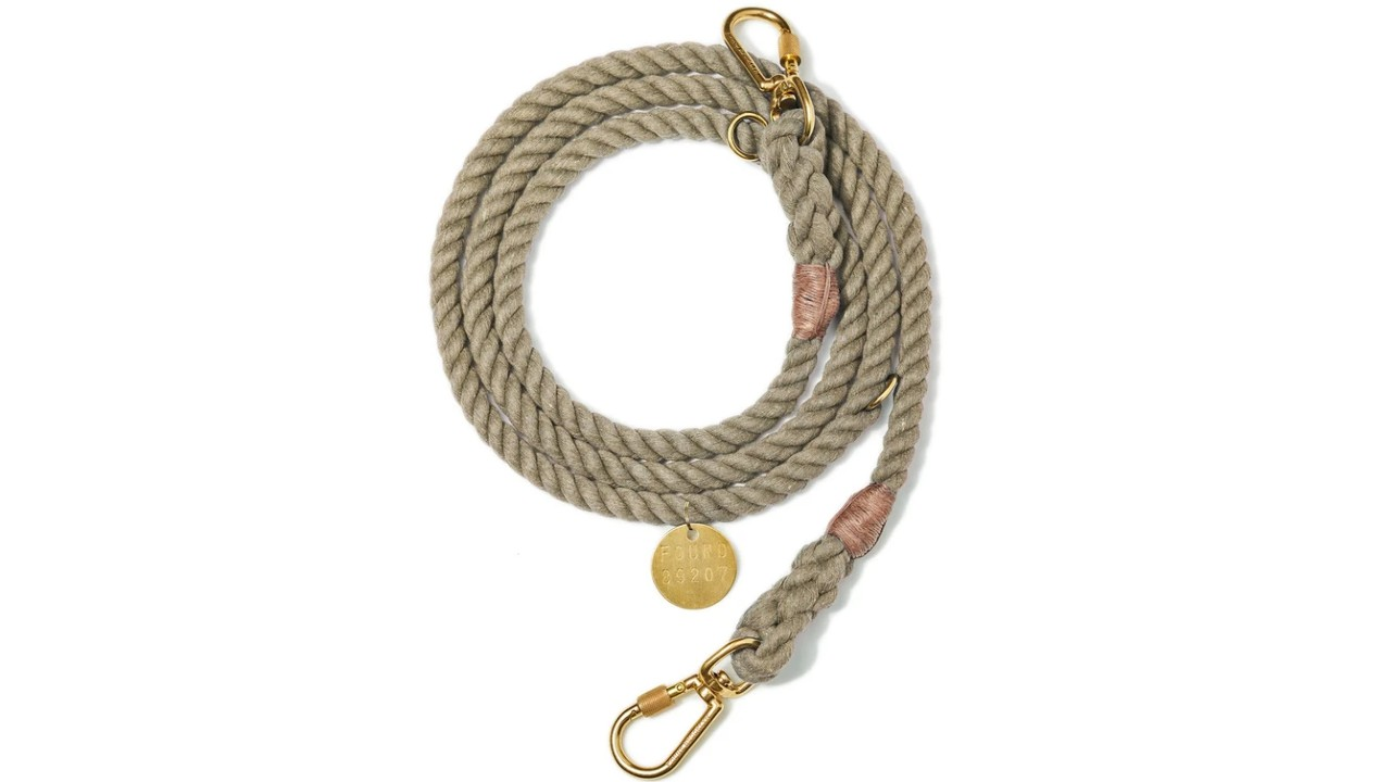 natural rope leash for dogs