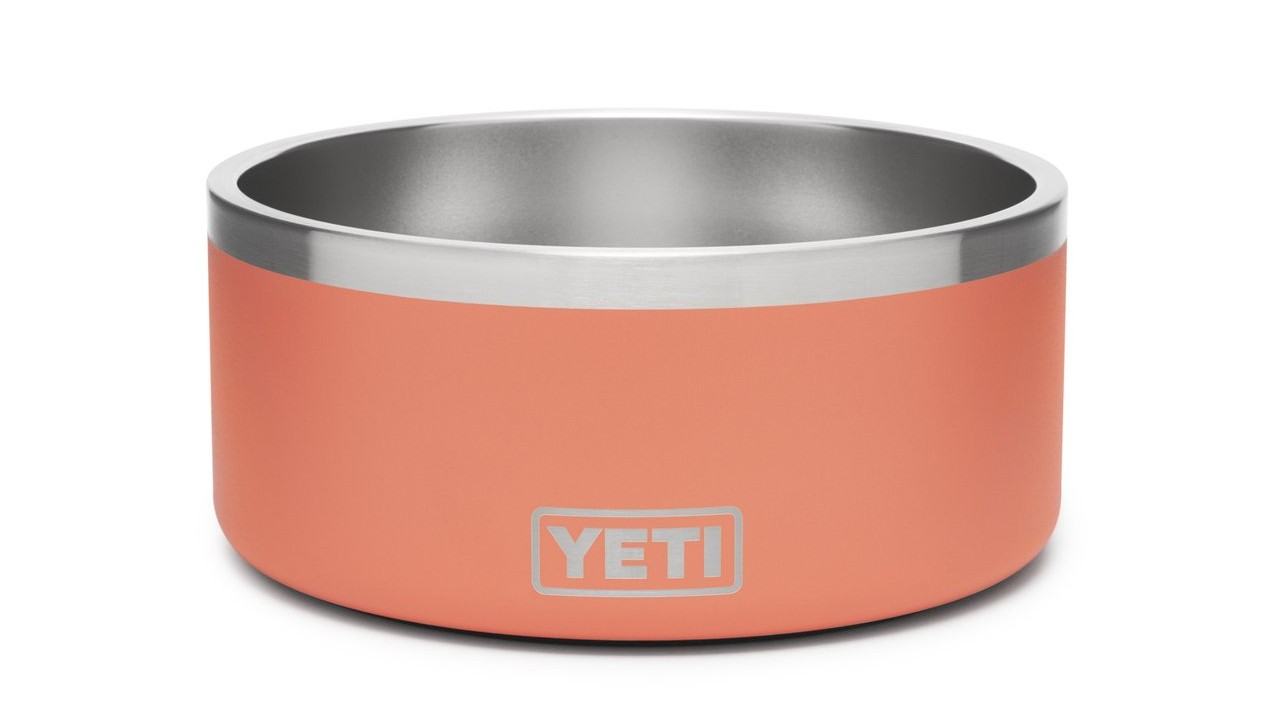 coral insulated dog bowl