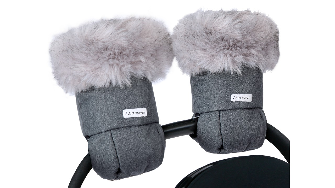 stroller mitts with faux fur lining