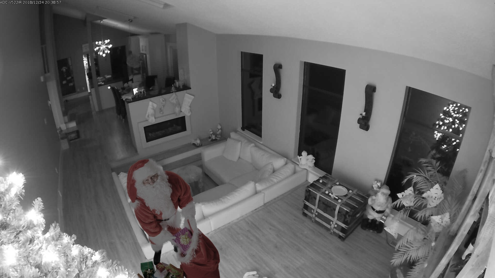 Home security catches Santa delivering gifts
