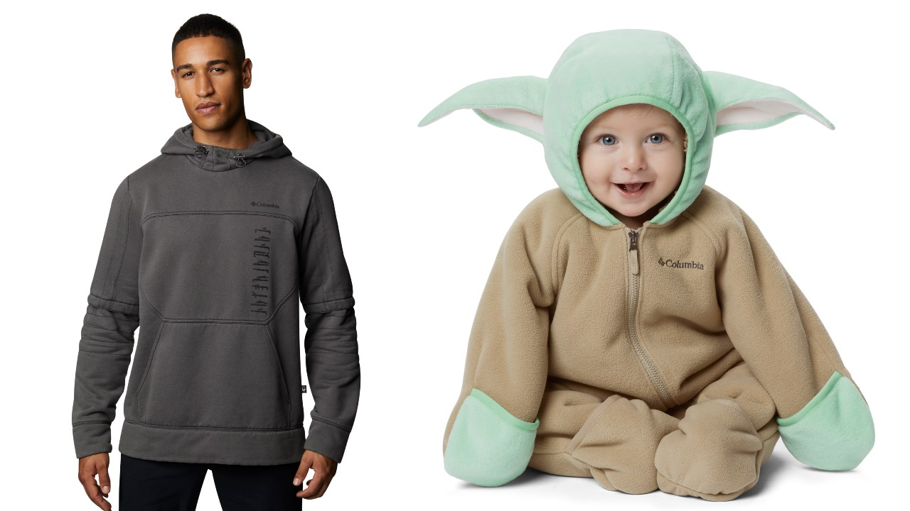 man and child in Star Wars themed clothing