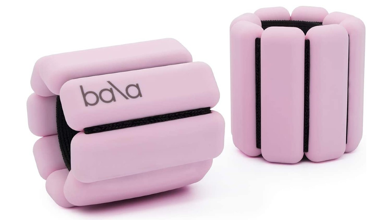 pink weighted bangles for exercise