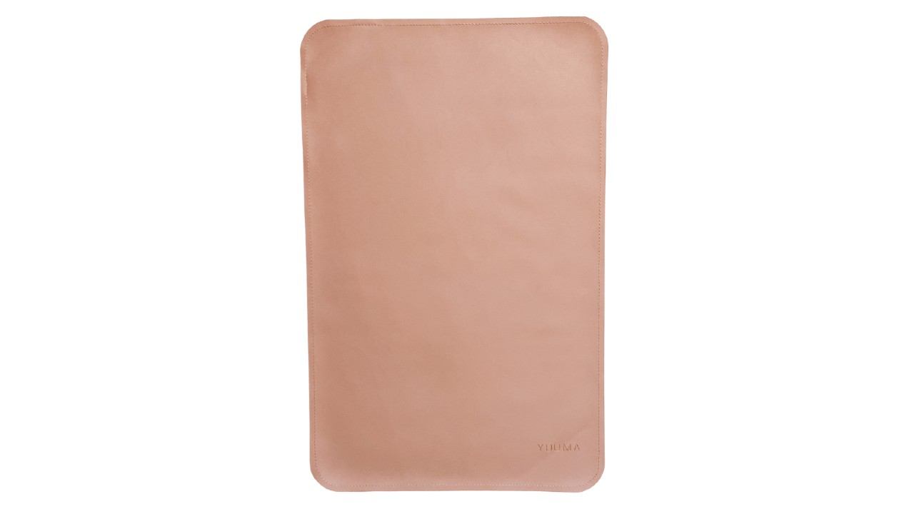 rose coloured vegan leather changing pad
