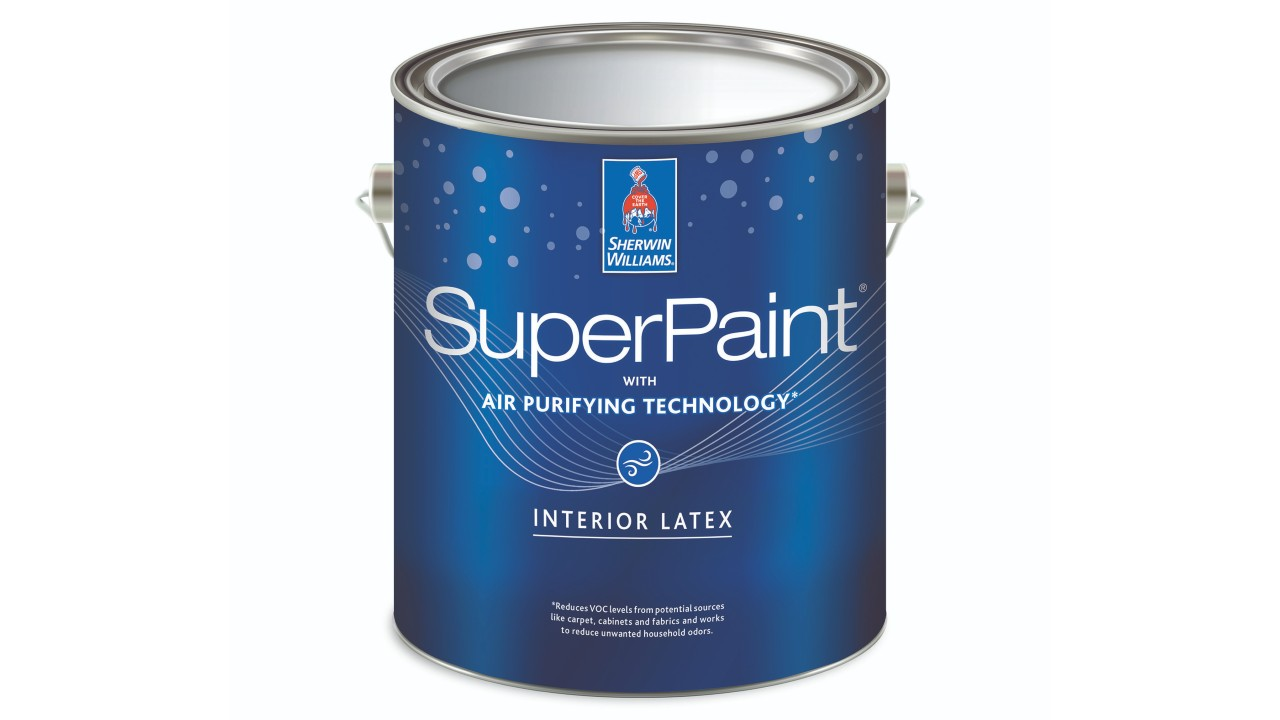 can of paint with air purifying technology
