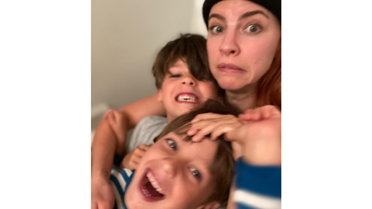 Actress Dani Kind with her two boys