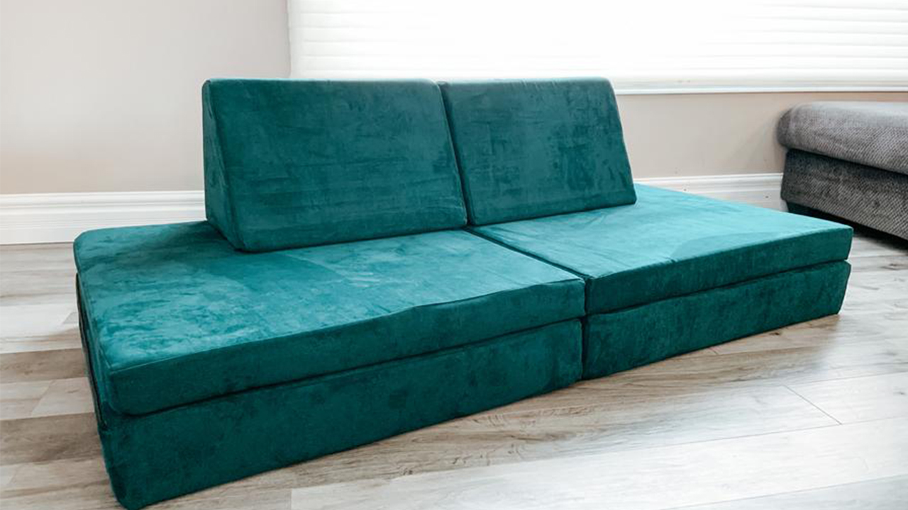 Photo of a play couch set up in a living room