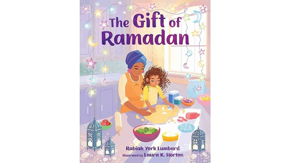 Book cover art for The Gift of Ramadan showing a girl and an her mom baking