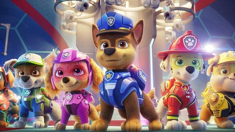 the paw patrol dogs all lined up