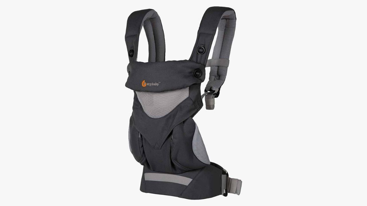 grey baby carrier