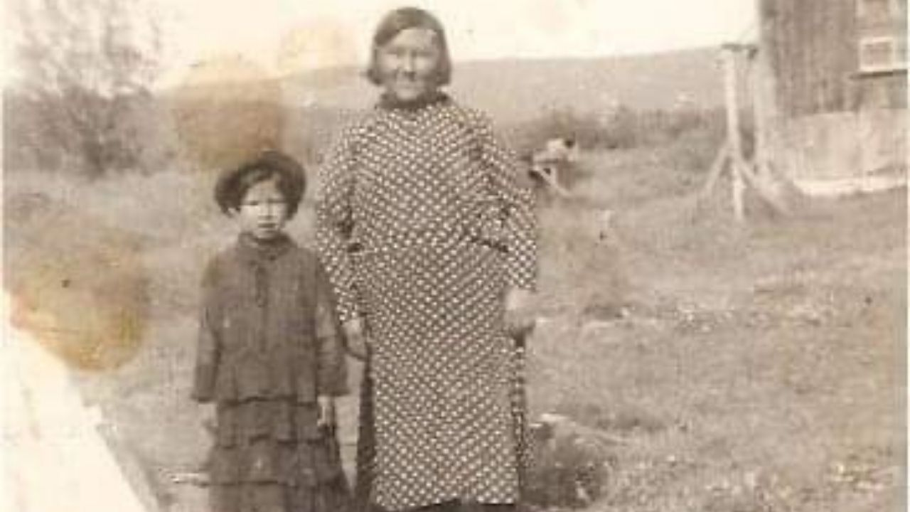 two women standing together