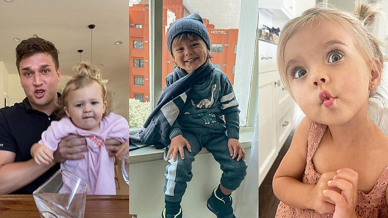 Photos from three instagram accounts of babies who make a lot of money on the platform